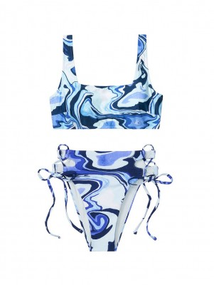 купить Купальник Square Neck Bralette Infinity Blue