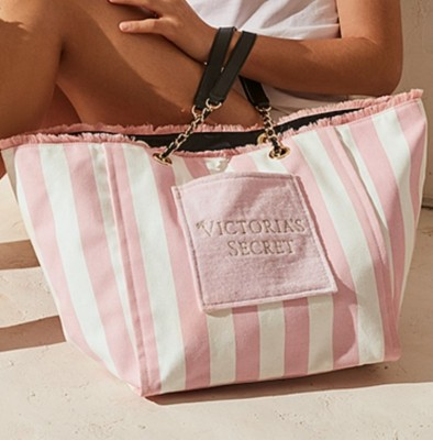 купить Сумка Signature Pink Striped Beach Tote